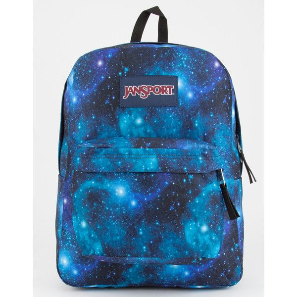 Jansport Superbreak Backpack (230 DKK) ❤ liked on Polyvore featuring bags, backpacks, strap backpack, jansport bags, galaxy backpack, galaxy rucksack and jansport