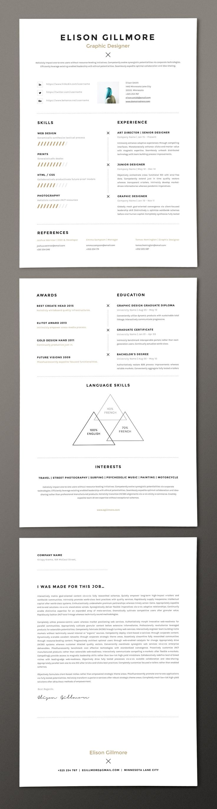1267 best Resume Templates images on Pinterest | Curriculum, Resume ...