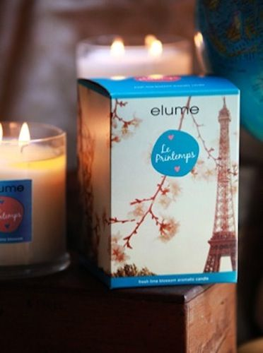 Elume A Moment in Time Candle – Le Primtemps. Fresh lime blossom aromatic candle    Springtime air in Paris, when fresh and delicate lime blossom scents stir love in the unwary traveller's heart. Awaken the senses with this romantic and invigorating floral citrus bouquet.