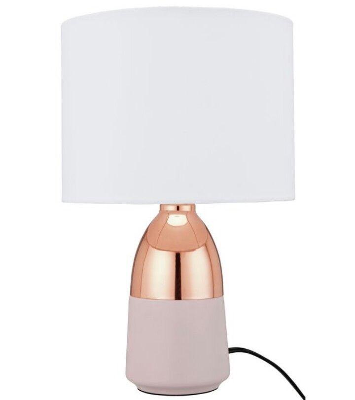 Copper Rose Gold Table Lamp Bedside Light Matt Pink Base Touch Lamp NEW  #Home #Modern