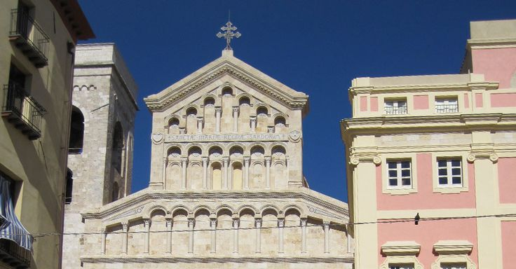 "The Cathedral of Cagliari High above the city, in the castle ""castello"" we find one of the most beautiful churches of Cagliari"
