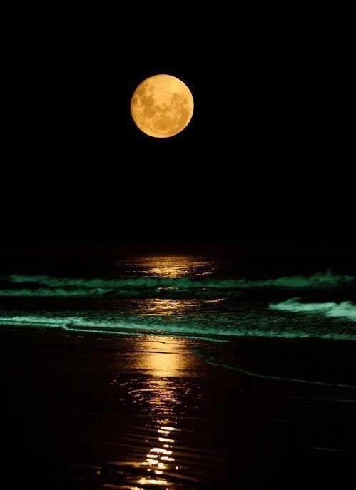 Playa de Samil #Vigo; Noche de Luna llena Vía FB