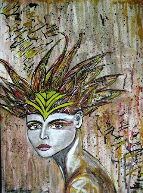 """Siren"" by Sabrina Brett. Acrylic on Canvas #art #painting: Brett Photography, Art Acrylics, Canvas Art Paintings, Brett Art, Artsy Fartsi, Canvas Mythology, Mythology Paintings, Sabrina Brett, Art Art"