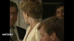 October 14 1993 Diana, Patron, the Leprosy Mission, presented Special Service Awards to Mission Volunteers at Lambeth Palace, London SE1 Diana attends the 1993 Business Traveler Awards luncheon at the Savoy Hotel, London WC2