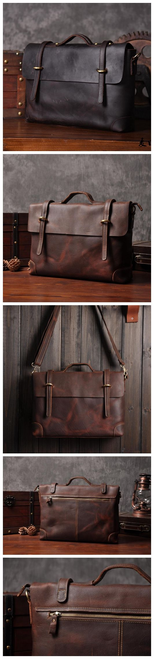CRAZY HORSE LEATHER BRIEFCASE, MESSENGER BAG, LAPTOP BAG, BUSINESS MEN'S BAG, MEN'S FASHION, LEATHER CASE, SCHOOL BAG, COOL MESSENGER ,GOOD DESIGN FOR MEN