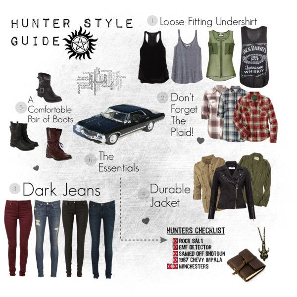 aa1a445b6db Supernatural : Hunter Style Guide | character inspired outfits |  Supernatural outfits, Supernatural, Outfits