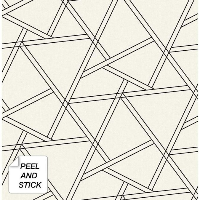 York Wallcoverings 3d Steps Vinyl Peelable Wallpaper Covers 28 18 Sq Ft Rmk11250rl The Home Depot Geometric Pattern Wallpaper Peelable Wallpaper Wall Coverings