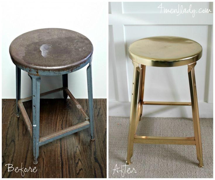 Gold stool makeover.