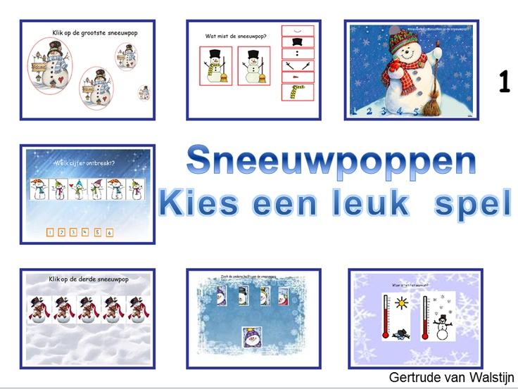 Digibordles sneeuwpoppen    http://leermiddel.digischool.nl/po/leermiddel/863aacdd0e8489bcb7fcafd69f6e16bb?s=2.0