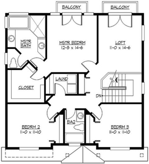Upper/Second Floor Plan: 88-218