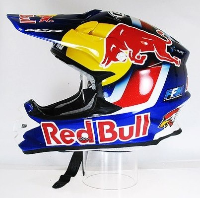 Red bull Motocross helmet/riding gear