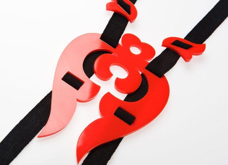 Red tulip necklace, Piros tulipános nyakék