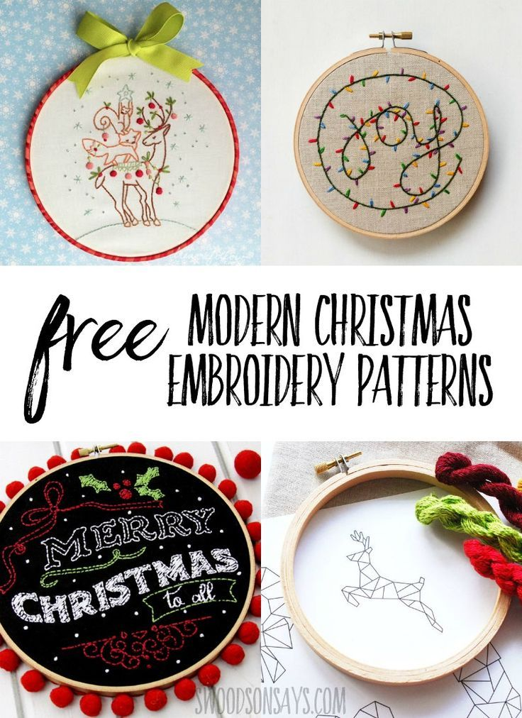 25+ Christmas hand embroidery patterns | Free Printables | Christmas