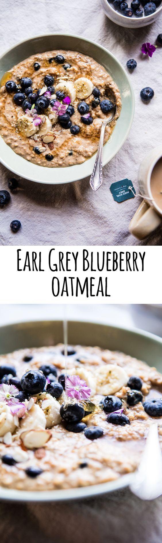 Earl Grey Blueberry Oatmeal   halfbakedharvest.com @hbharvest