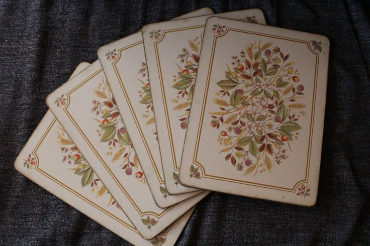 Set of 5 Vintage Traditional Placemats Flower, Floral Design by Grandchildattic…