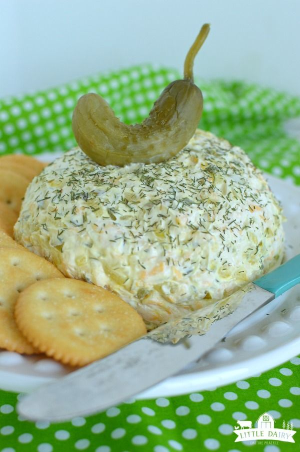Dill Pickle Cheeseball - great with pretzels, crackers, or even veggies