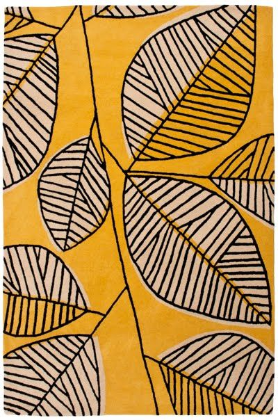 yellow leaf print