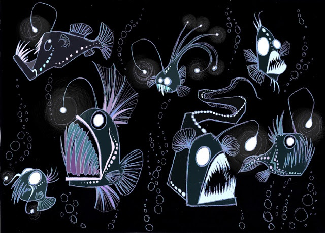 Beatrice Borghini - Abyssal Fish Cool black Light poster idea