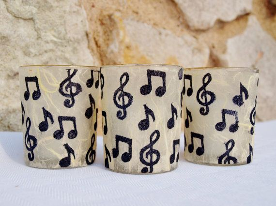 Music Note Candle Holder,
