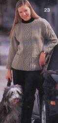 """Скачать бесплатно схему """"Пуловер с воротником поло"""" - spicami.net"""