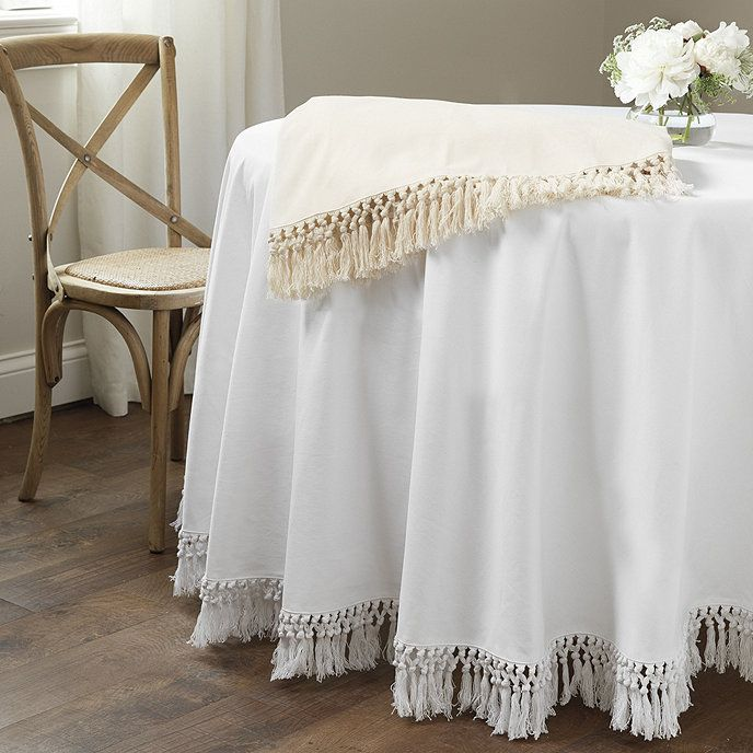 Macrame Fringed Tablecloth In 2020 Table Cloth Interior Design