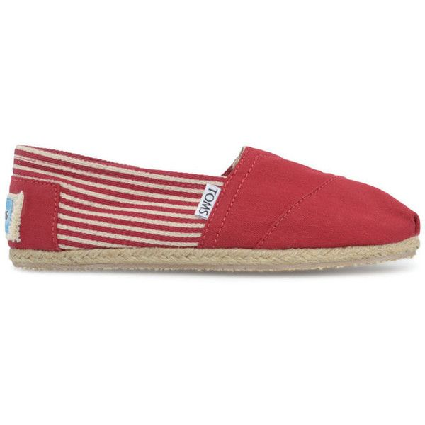 TOMS Classic University shoes ($26) ❤ liked on Polyvore featuring shoes, flats, toms, sapatilhas, slip on shoes, flat slip on shoes, toms flats, flat heel shoes and flat shoes