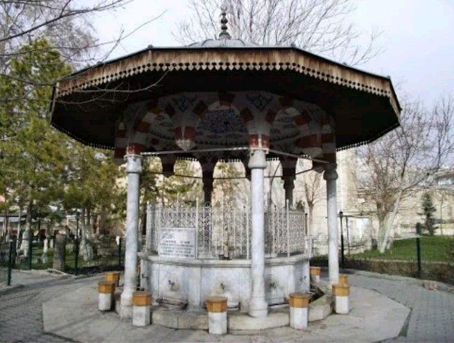 Ak Tekke mosque fountain-Mader-i Mevlana mosque fountain-Constructive mosque: Karamanoglu Mahmud's son Halil's son Alaaddin Bey-Mosque built year: 1370-Karaman