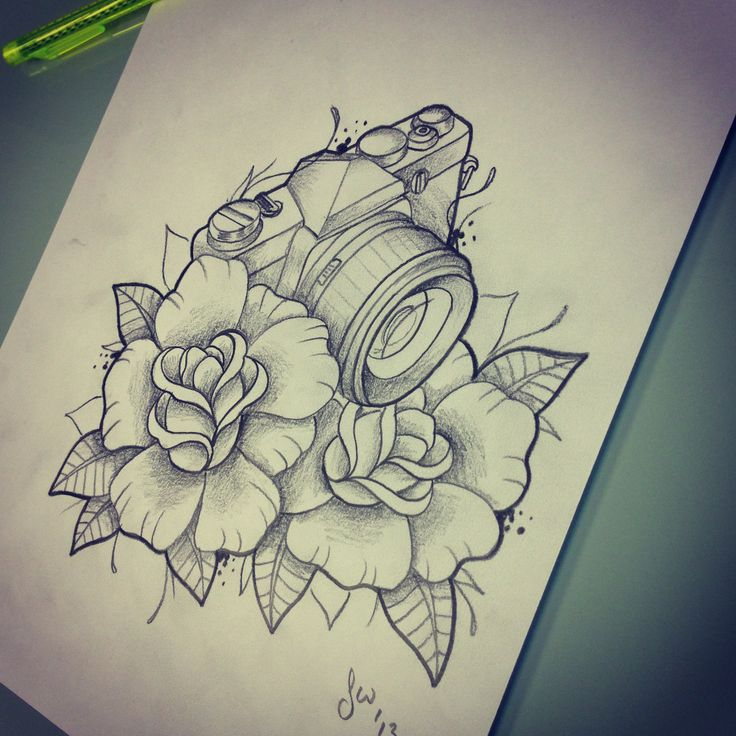 Camera Tattoo Designs And Ideas