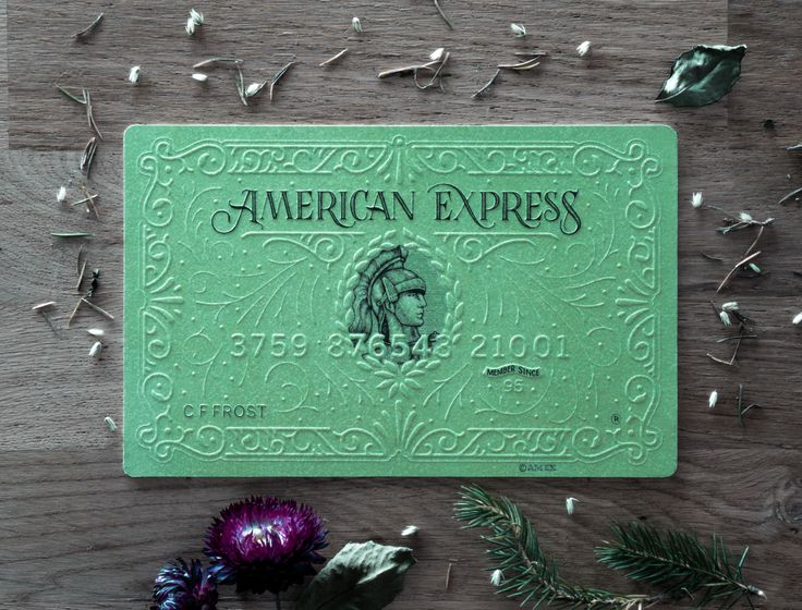 American Express commissioned us to create three interpretations of their cards. We created those three cards using a hand embossing technique