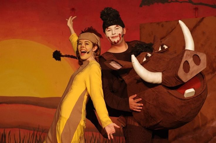 Timon and Pumbaa costumes by Y. Moten