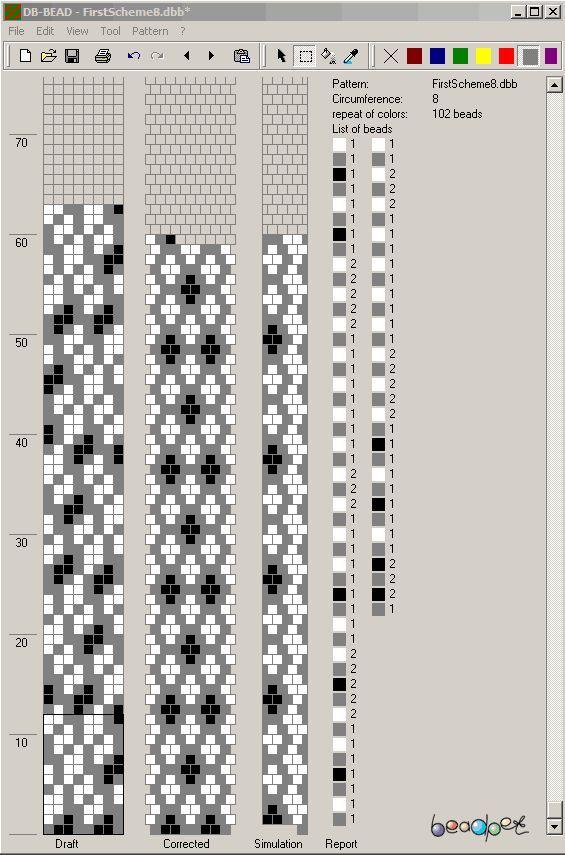 8 aorund - Resultado de imagen para tubular bead crochet patterns