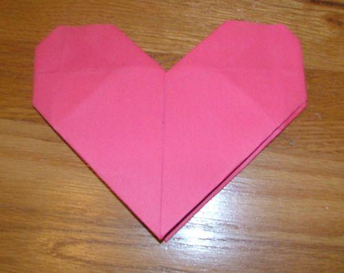 Как сделать оригами сердце из
