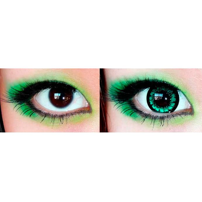 make everyone green with envy when you step out in a pair of refreshing sexy green colored circle lens these cosmetic contact feature vibrant coloration - Coloration Eos
