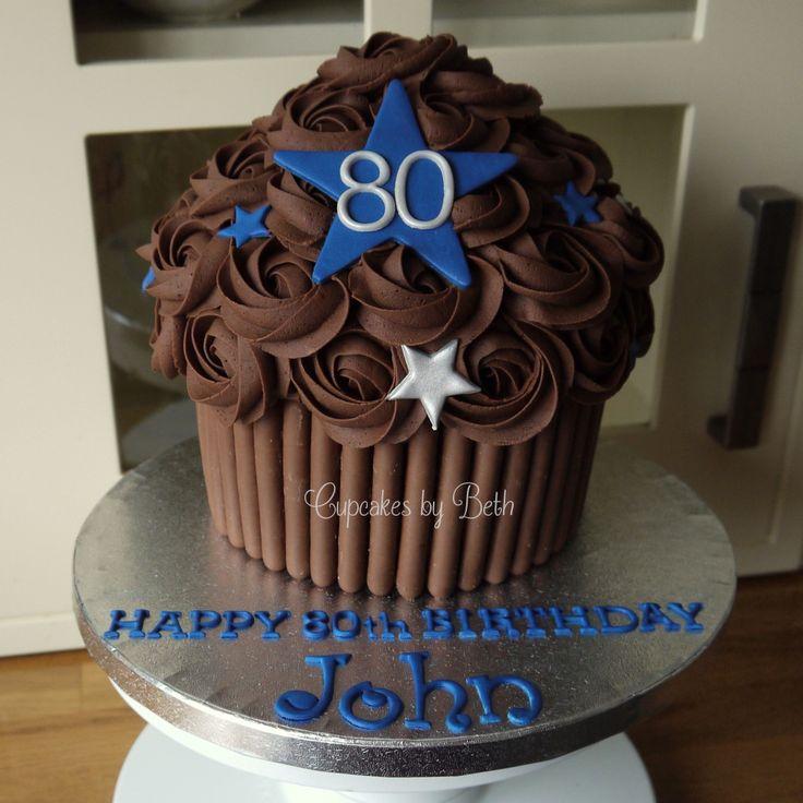 Cake Decorating 80th Birthday Ideas : Chocolate giant cupcake, Giant cupcakes and Cupcake on ...