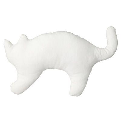 MUJI : 麻平織動物クッション・ネコ/オフ白 | Sumally