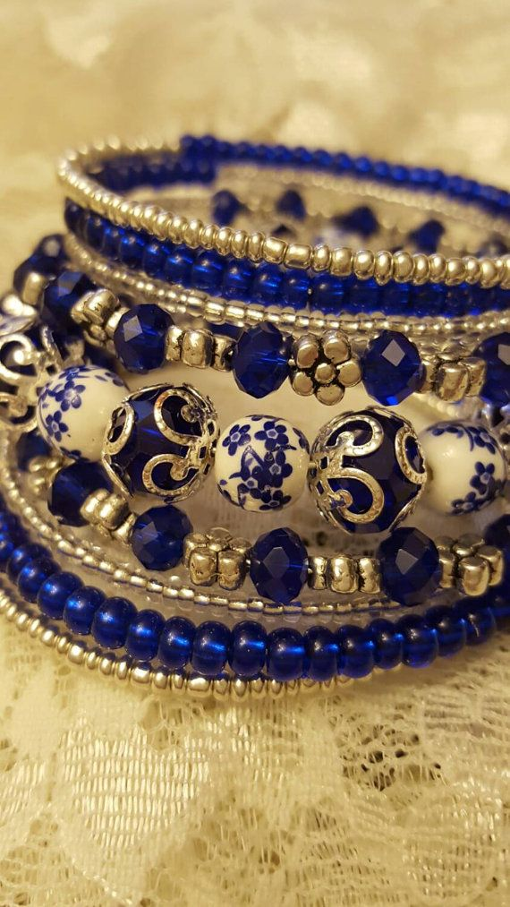 Blue Moon Memory Bracelet by MarticaDesigns on Etsy                                                                                                                                                                                 More