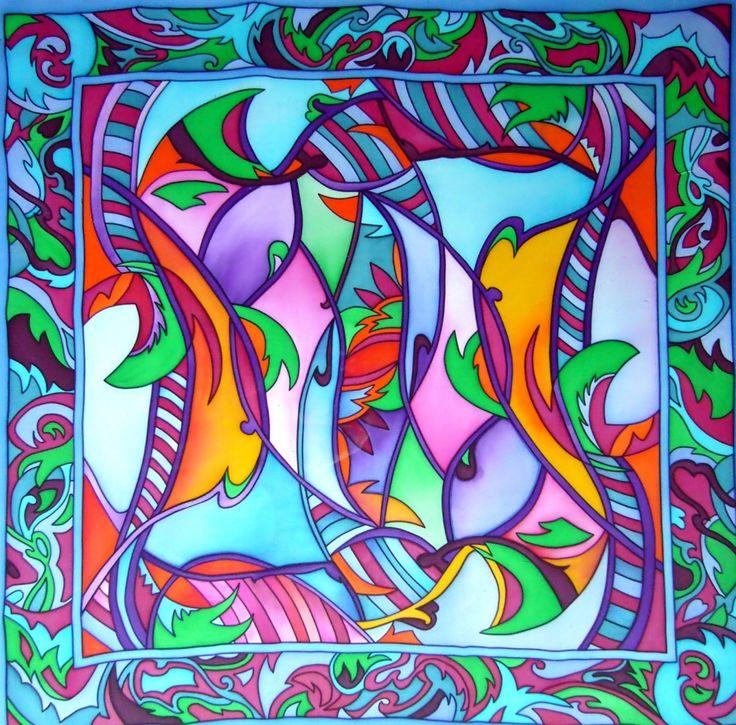 Les 25 meilleures id es de la cat gorie peinture sur soie for Peindre sur de la peinture