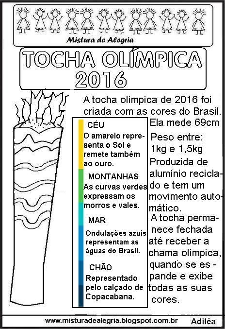 OLYMPIC TORCH 2016 DESIGN, TEXT AND ACTIVITY, PRINT AND COLOR-Mix of Joy
