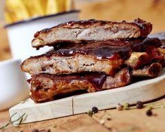 Travers de porc au miel au barbecue