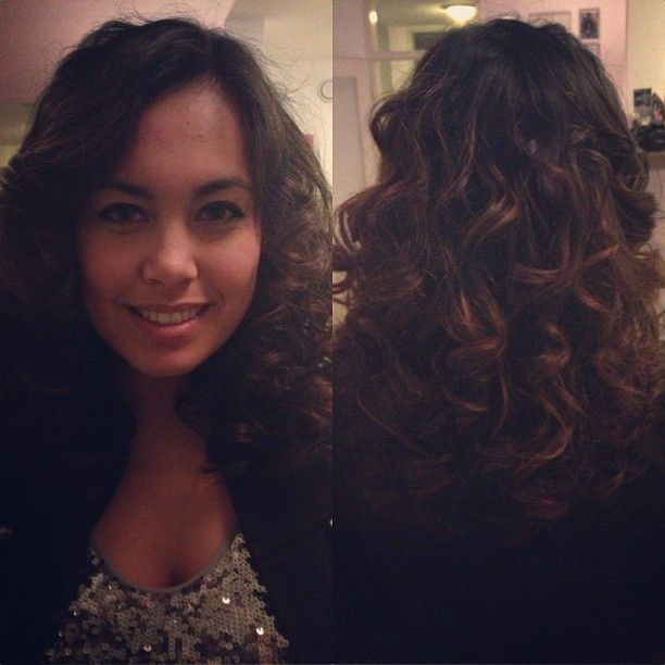 curls with straightning iron