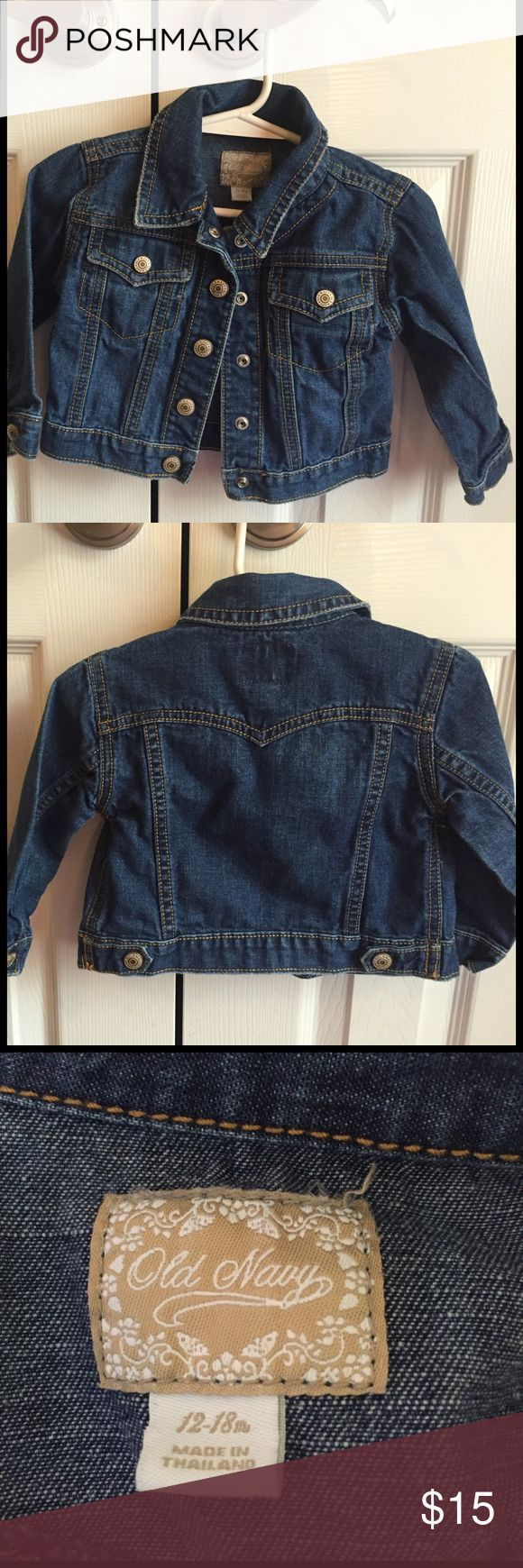Baby 18 month Old Navy Jean Jacket Excellent Condition! Old Navy Jackets & Coats Jean Jackets