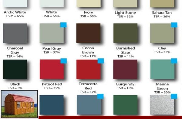 Menards Metal Roofing Color Chart And Metal Roof Color For White House In 2020 Metal Roof Colors Roof Colors Metal Roof