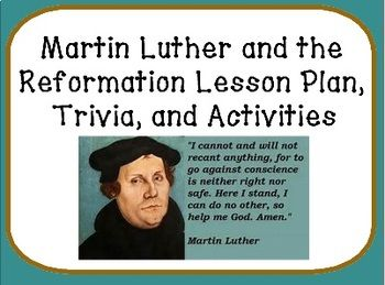 protestant reformation lesson plan Fill in the blanks on the following ten questions using the information presented in the prezi slide show, including the one open ended short answer question.