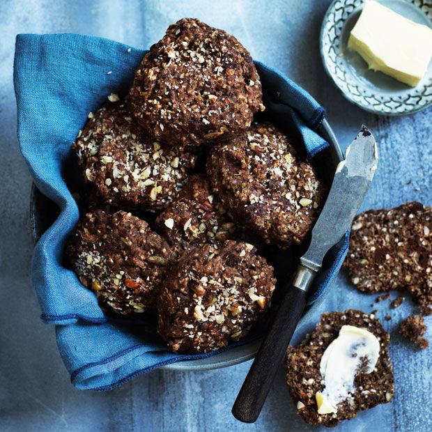 Rugbrødsboller med mørk chokolade