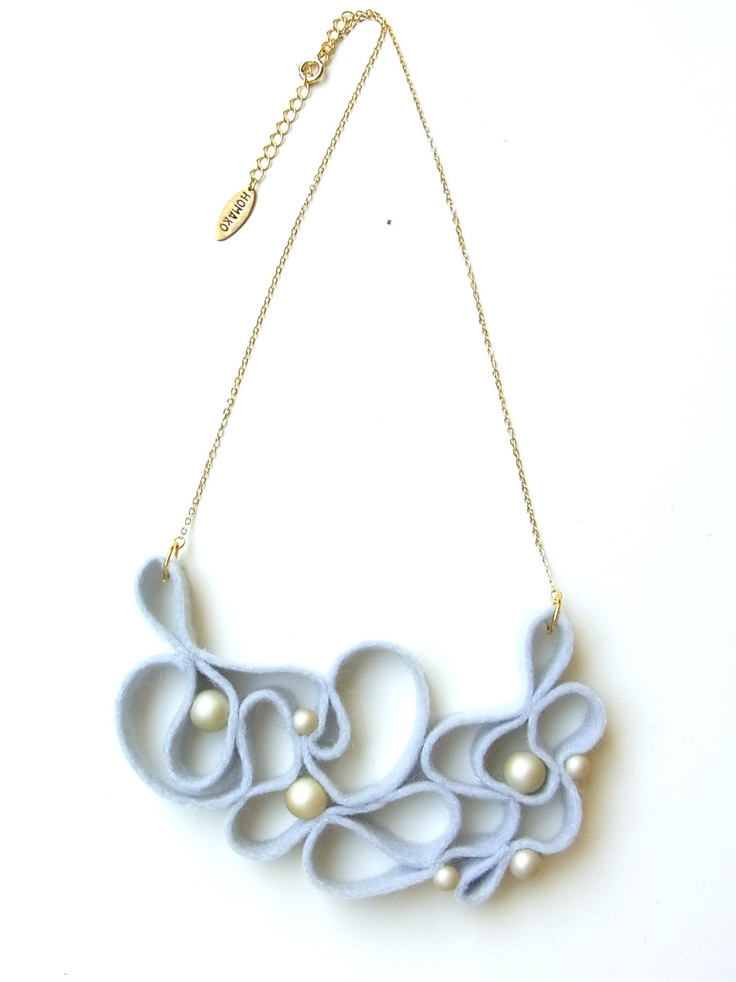 Kune Felt and Pearl Necklace