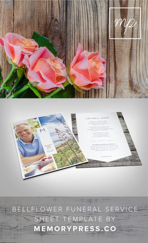 funeral service sheet template - bellflower funeral program design funeral memorial