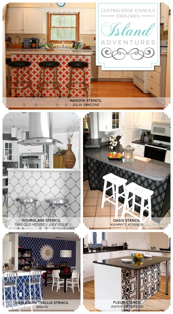 18 Best Stenciled Kitchens Images On Pinterest  Cutting Edge Simple Kitchen Stencil Designs Design Ideas