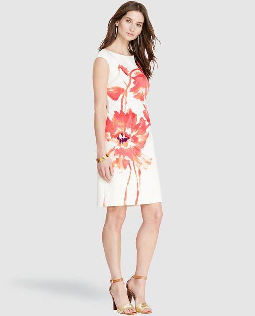 Vestido corto de mujer Lauren Ralph Lauren estampado