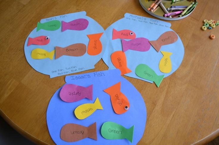 Fish bowl craft dr seuss pinterest for Fish activities for preschoolers