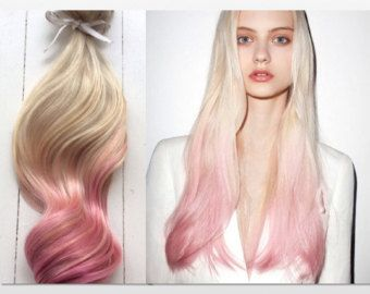 Best 25 pink hair extensions ideas on pinterest diy urban pastel ombre hair extensions platinum blonde and pastel pink dip dye hair by ninascreativecouture pmusecretfo Image collections